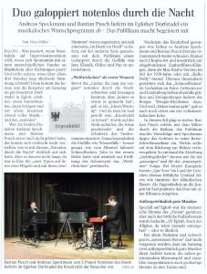 Zeitungsartikel Schwäbische Notenlos in Eglofs 2015-11-28